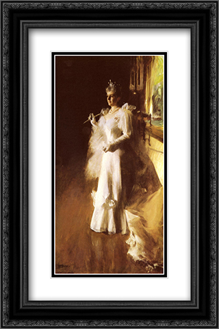 Mrs. Potter Palmer 16x24 Black or Gold Ornate Framed and Double Matted Art Print by Anders Zorn
