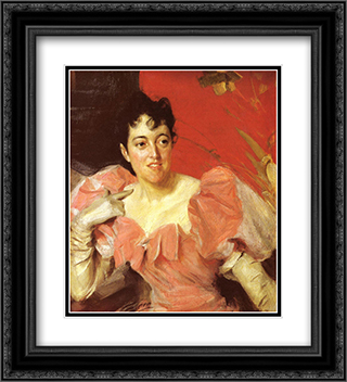 Mrs. Walter Bacon 20x22 Black or Gold Ornate Framed and Double Matted Art Print by Anders Zorn