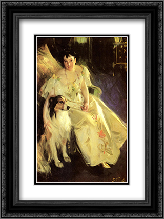 Mrs. Bacon 18x24 Black or Gold Ornate Framed and Double Matted Art Print by Anders Zorn