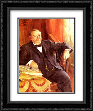 President Grover Cleveland 20x24 Black or Gold Ornate Framed and Double Matted Art Print by Anders Zorn