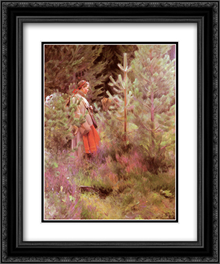 Vallkulla 20x24 Black or Gold Ornate Framed and Double Matted Art Print by Anders Zorn