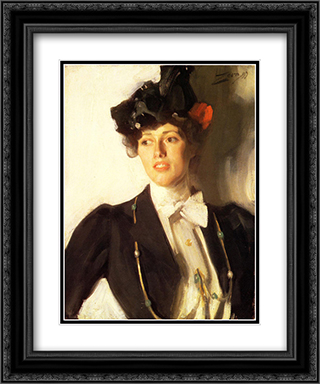 Martha Dana 20x24 Black or Gold Ornate Framed and Double Matted Art Print by Anders Zorn