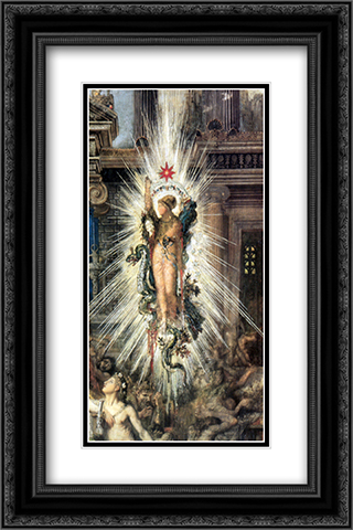 The Suitors ' detail 16x24 Black or Gold Ornate Framed and Double Matted Art Print by Gustave Moreau