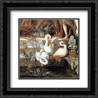 The Daughters of Thespius ' detail 20x20 Black or Gold Ornate Framed and Double Matted Art Print by Gustave Moreau