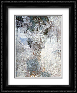 The Chimeras ' detail 20x24 Black or Gold Ornate Framed and Double Matted Art Print by Gustave Moreau