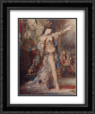The Apparition [detail] 20x24 Black or Gold Ornate Framed and Double Matted Art Print by Gustave Moreau