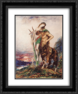 The Dead Poet Borne by a Centaur 20x24 Black or Gold Ornate Framed and Double Matted Art Print by Gustave Moreau