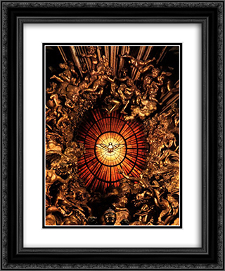 The Chair of Saint Peter [detail] 20x24 Black or Gold Ornate Framed and Double Matted Art Print by Gian Lorenzo Bernini