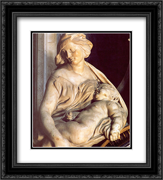 Tomb of Pope Urban VIII [detail] 20x22 Black or Gold Ornate Framed and Double Matted Art Print by Gian Lorenzo Bernini