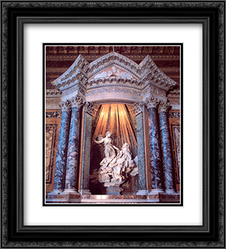 The Ecstasy of Saint Teresa 20x22 Black or Gold Ornate Framed and Double Matted Art Print by Gian Lorenzo Bernini