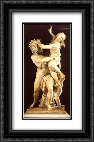 The Rape of Proserpine 16x24 Black or Gold Ornate Framed and Double Matted Art Print by Gian Lorenzo Bernini