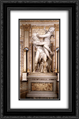 The Rape of Proserpine [detail: 2] 16x24 Black or Gold Ornate Framed and Double Matted Art Print by Gian Lorenzo Bernini