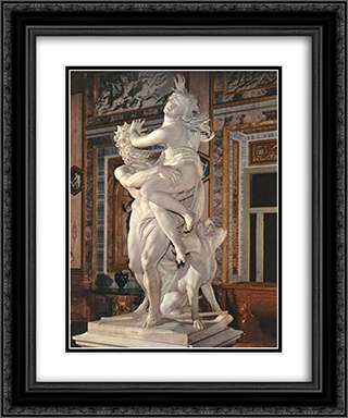 The Rape of Proserpine [detail: 3] 20x24 Black or Gold Ornate Framed and Double Matted Art Print by Gian Lorenzo Bernini