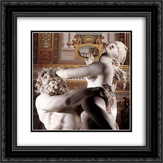 The Rape of Proserpine [detail: 4] 20x20 Black or Gold Ornate Framed and Double Matted Art Print by Gian Lorenzo Bernini