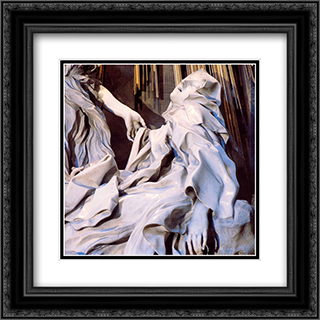 The Ecstasy of Saint Teresa [detail] 20x20 Black or Gold Ornate Framed and Double Matted Art Print by Gian Lorenzo Bernini