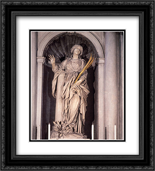 Saint Bibiana 20x22 Black or Gold Ornate Framed and Double Matted Art Print by Gian Lorenzo Bernini