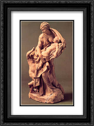 Charity 18x24 Black or Gold Ornate Framed and Double Matted Art Print by Gian Lorenzo Bernini