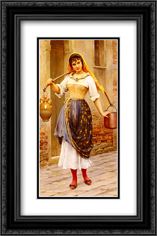 Work 16x24 Black or Gold Ornate Framed and Double Matted Art Print by Eugene de Blaas