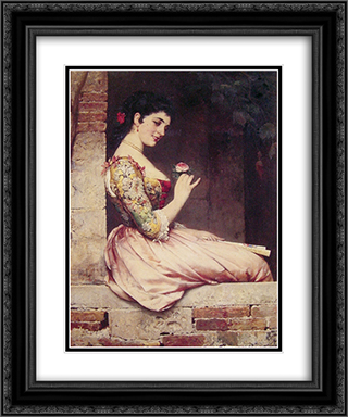The Rose 20x24 Black or Gold Ornate Framed and Double Matted Art Print by Eugene de Blaas