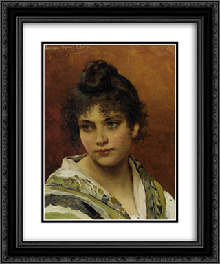 Young Beauty 20x24 Black or Gold Ornate Framed and Double Matted Art Print by Eugene de Blaas