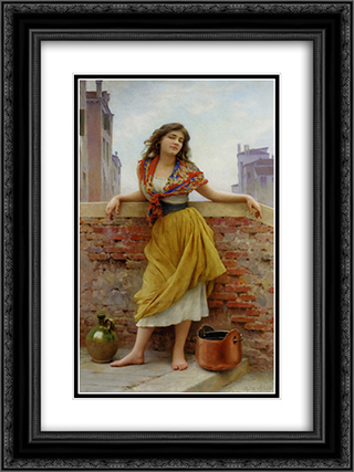 Die Wassertragerin 18x24 Black or Gold Ornate Framed and Double Matted Art Print by Eugene de Blaas