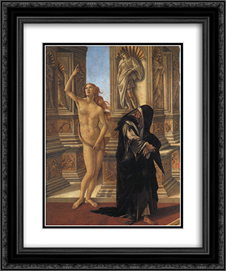 Calumny, detail of Truth and Remorse 20x24 Black or Gold Ornate Framed and Double Matted Art Print by Sandro Botticelli