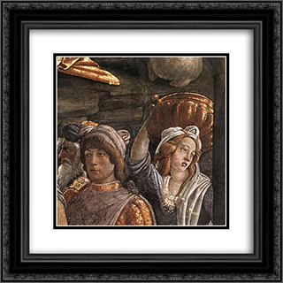 Scenes from the Life of Moses [detail: 4] 20x20 Black or Gold Ornate Framed and Double Matted Art Print by Sandro Botticelli