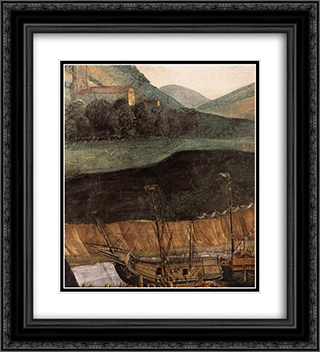 The Punishment of Korah [detail: 6] 20x22 Black or Gold Ornate Framed and Double Matted Art Print by Sandro Botticelli