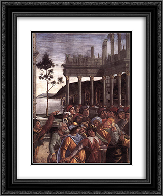 The Punishment of Korah [detail: 4] 20x24 Black or Gold Ornate Framed and Double Matted Art Print by Sandro Botticelli