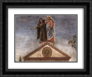 The Temptation of Christ [detail: 5] 24x20 Black or Gold Ornate Framed and Double Matted Art Print by Sandro Botticelli