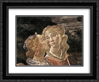 The Temptation of Christ [detail: 7] 24x20 Black or Gold Ornate Framed and Double Matted Art Print by Sandro Botticelli