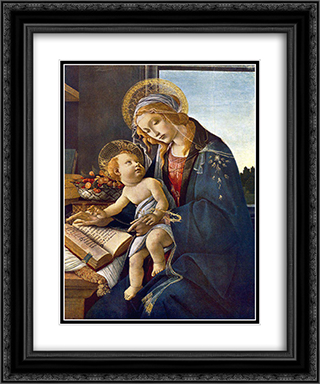 Madonna with the Child 20x24 Black or Gold Ornate Framed and Double Matted Art Print by Sandro Botticelli