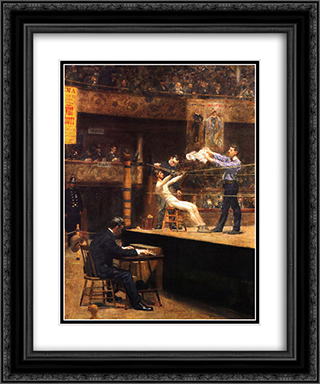 In the mid'time 20x24 Black or Gold Ornate Framed and Double Matted Art Print by Thomas Eakins