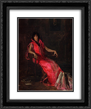 An Actress 20x24 Black or Gold Ornate Framed and Double Matted Art Print by Thomas Eakins