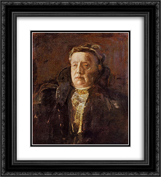Mrs. Gilbert Perker 20x22 Black or Gold Ornate Framed and Double Matted Art Print by Thomas Eakins