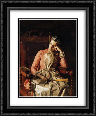Portrait of Amelia C. Van Buren 20x24 Black or Gold Ornate Framed and Double Matted Art Print by Thomas Eakins