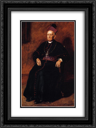 Portrait of Archbishop William Henry Elder 18x24 Black or Gold Ornate Framed and Double Matted Art Print by Thomas Eakins