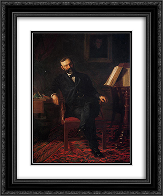 Portrait of Dr. John H. Brinton 20x24 Black or Gold Ornate Framed and Double Matted Art Print by Thomas Eakins