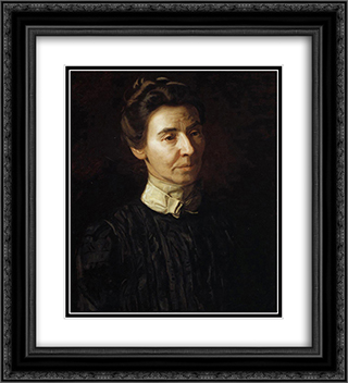 Portrait of Mary Adeline Williams 20x22 Black or Gold Ornate Framed and Double Matted Art Print by Thomas Eakins