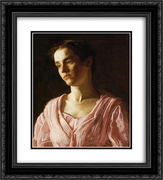 Portrait of Maud Cook 20x22 Black or Gold Ornate Framed and Double Matted Art Print by Thomas Eakins