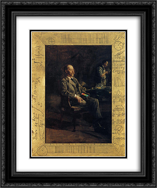 Portrait of Professor Henry A. Rowland 20x24 Black or Gold Ornate Framed and Double Matted Art Print by Thomas Eakins