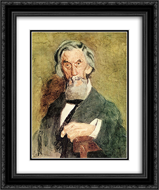 Portrait of William H. MacDowell (unfinished) 20x24 Black or Gold Ornate Framed and Double Matted Art Print by Thomas Eakins
