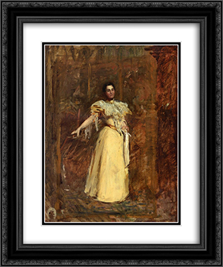 Study for The Portrait of Miss Emily Sartain 20x24 Black or Gold Ornate Framed and Double Matted Art Print by Thomas Eakins