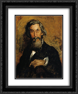 Portrait of William H. MacDowell 20x24 Black or Gold Ornate Framed and Double Matted Art Print by Thomas Eakins