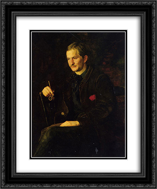 The Art Student 20x24 Black or Gold Ornate Framed and Double Matted Art Print by Thomas Eakins