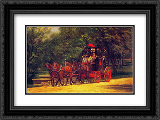 A May Morning in the Park 24x18 Black or Gold Ornate Framed and Double Matted Art Print by Thomas Eakins
