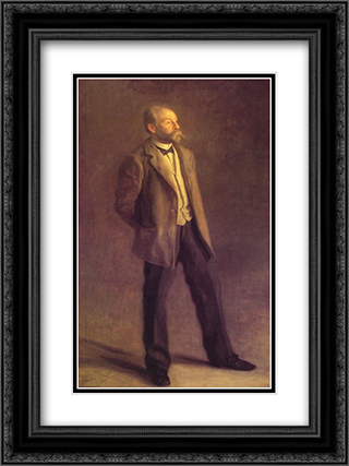John McClure Hamilton 18x24 Black or Gold Ornate Framed and Double Matted Art Print by Thomas Eakins