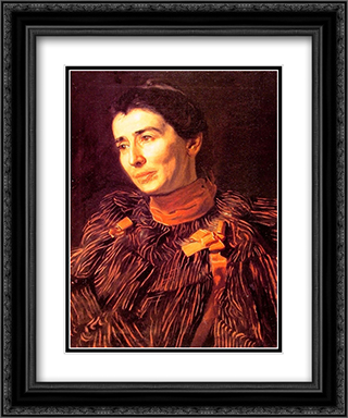 Mary Adeline Williams (Addie) 20x24 Black or Gold Ornate Framed and Double Matted Art Print by Thomas Eakins