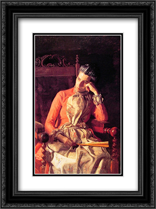 Miss Amelia Van Buren 18x24 Black or Gold Ornate Framed and Double Matted Art Print by Thomas Eakins