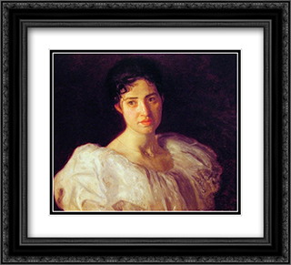 Miss Lucy Lewis 22x20 Black or Gold Ornate Framed and Double Matted Art Print by Thomas Eakins